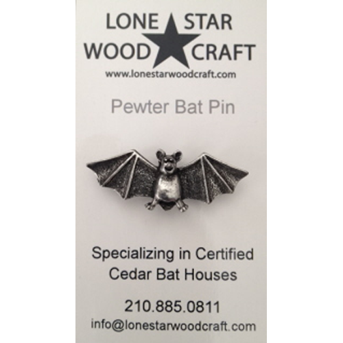 pewter bat pin