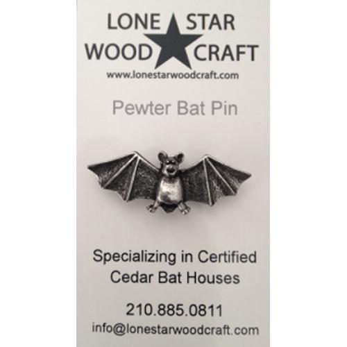 pewter bat pin