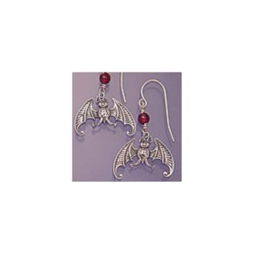 gorey bat earrings