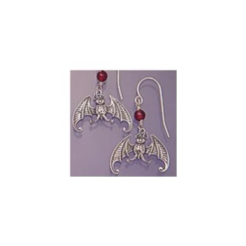 gorey bat earrings